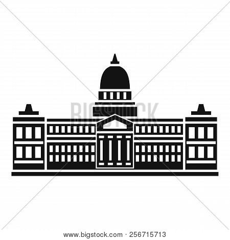 Palace Of Congress In Buenos Aires, Argentina Icon. Simple Illustration Of Palace Of Congress In Bue