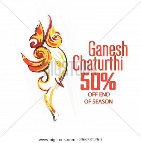 Nice And Beautiful Sale Abstract Or Poster For Ganesh Chaturthi With Nice And Creative Design Illust