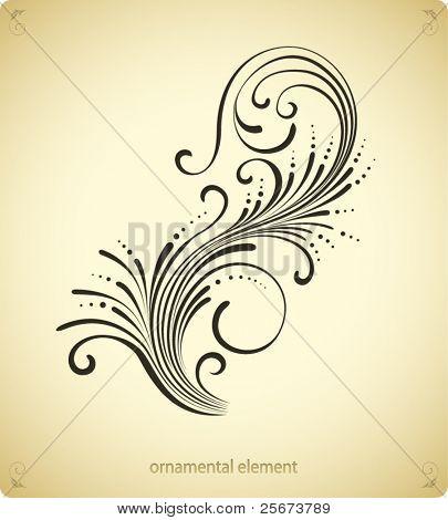 swirl ornament design