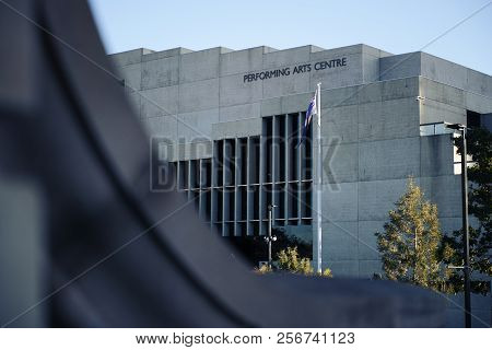 Brisbane, Australia - Sunday 19th August, 2018: View Of The Performing Arts Centre Building During T