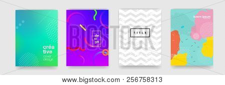Abstract Gradient Flowing Geometric Pattern Background Texture For Poster Cover Design. Minimal Colo