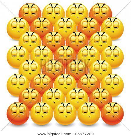 Smiley balls making letter X