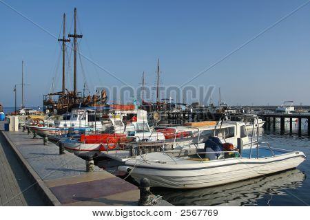 The Harbor Of Pafos At Cyprus