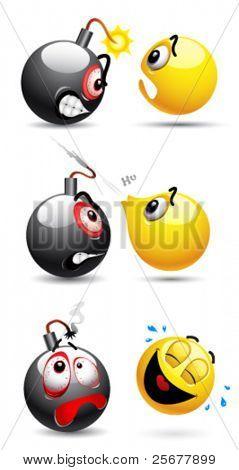 Smiley ball and smiley bomb