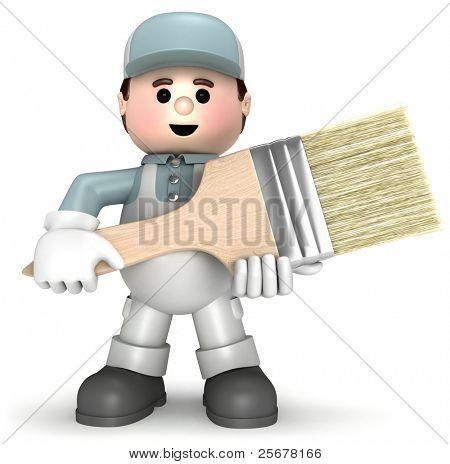 Painter mascot