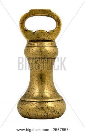 Antique Brass Weight