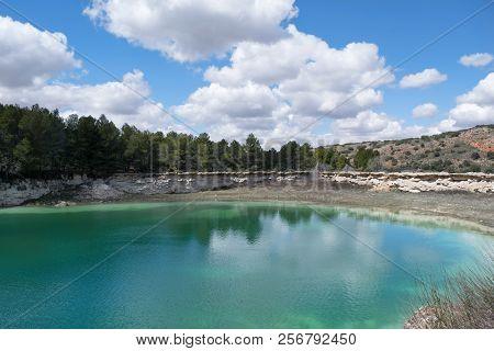 Lake In Natural Park Lagunas De Ruidera. Spain.