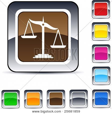 Balance glossy square web buttons.