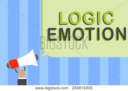 Writing Note Showing Logic Emotion. Business Photo Showcasing Unpleasant Feelings Turned To Self Res