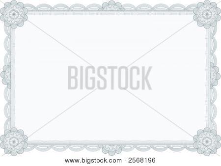Diploma Or Certificate / Guilloche Border / A4 / Vector