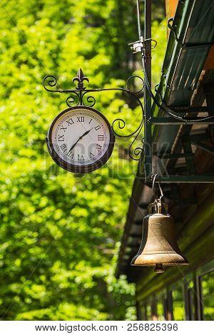 Clock And Railway Bell. Guam Gorge, Krasnodar Russia