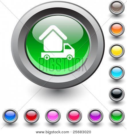 Camper  metallic vibrant round icon.