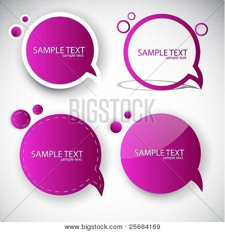 Papier runden Bubble für Rede