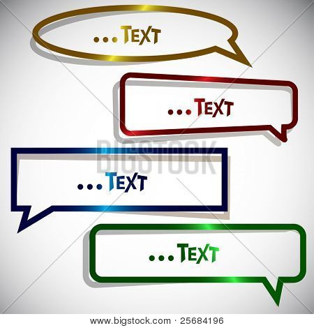 Colorful paper sticker for speech