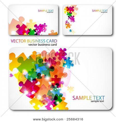 Moderno conjunto de cartão de visita