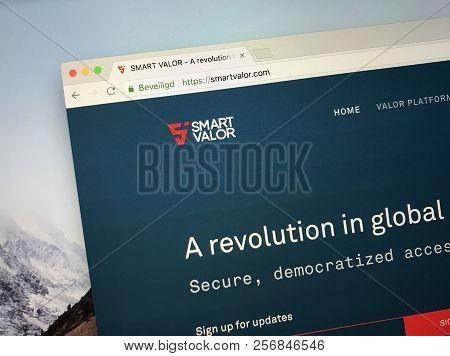 Amsterdam, The Netherlands - September 5, 2018: Website Of Smart Valor, A Decentralized, Community-b