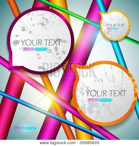 Modern speech bubbles on bright background