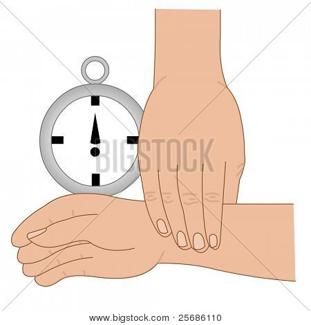 hand taking pulse