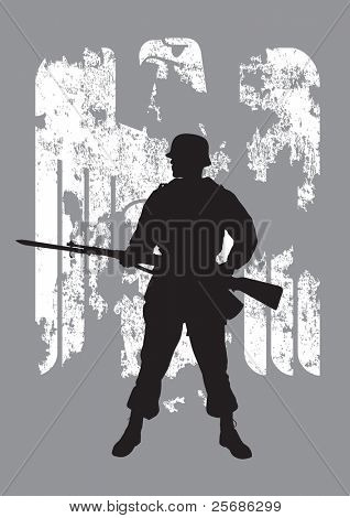 Silhouette of a enemy soldier with a rifle