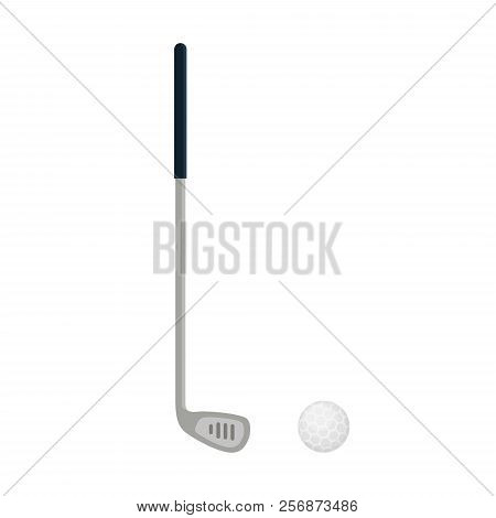 Golf Club Icon Isolated On White Background, Flat Element For Golfing, Golf Equipment - Vector Illus