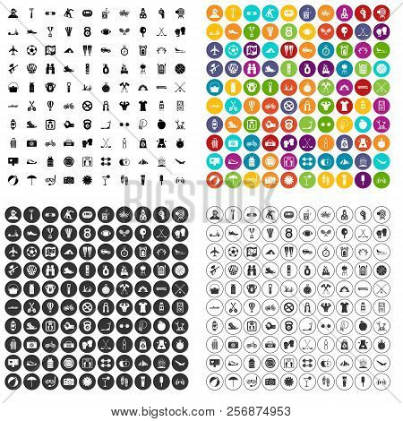 100 Active Life Icons Set In 4 Variant For Any Web Design Isolated On White