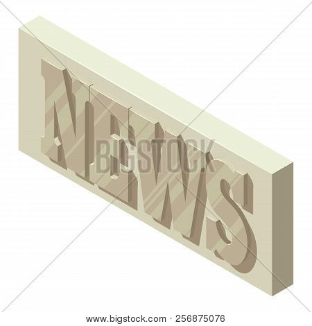 Periodic News Icon. Isometric Illustration Of Periodic News Icon For Web