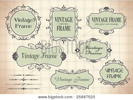 vintage frames for your text