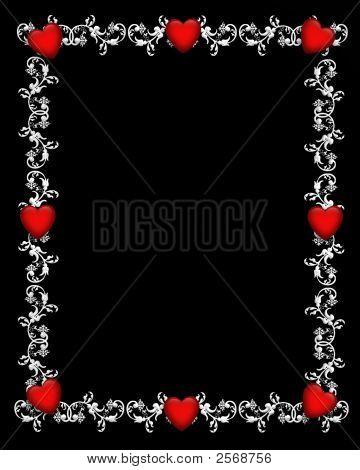 Marco de San Valentín en negro