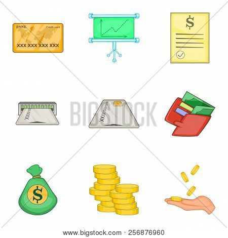 Cheap Loan Icons Set. Cartoon Set Of 9 Cheap Loan Icons For Web Isolated On White Background