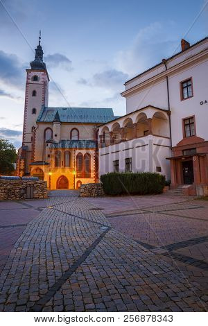Banska Bystrica, Slovakia - July 19, 2018: Gothic Church And Gallery In The Old Town Of Banska Bystr