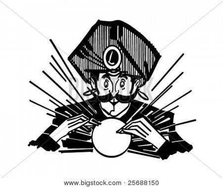 Fortune Teller - Retro Clipart Illustration