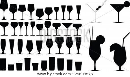 Vector glass collection