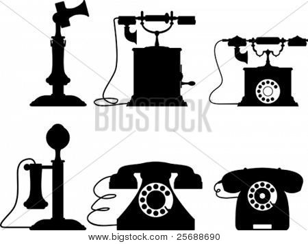 Old telephone collection