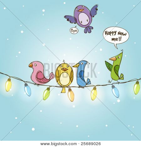 2011 New year greeting card vector illustration