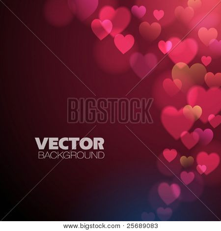 Abstract Background with pink hearts