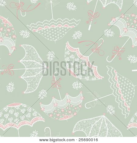 Background with wedding parasols