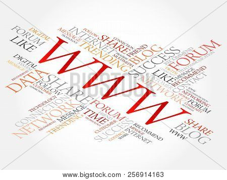 Www Word Cloud, Technology Business Concept Background