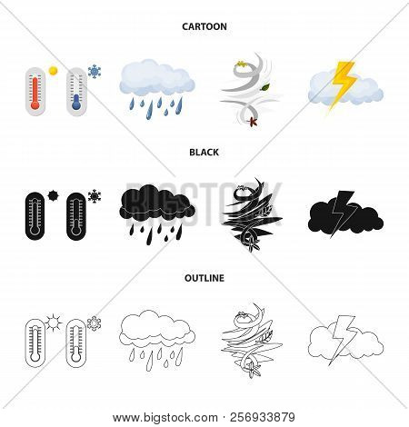 Isolated Object Of Weather And Weather Symbol. Collection Of Weather And Application Vector Icon For