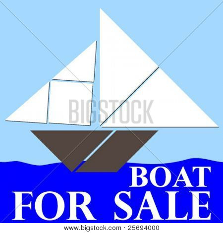 Tangram,the oldest Chinese puzzle,boat for sale.