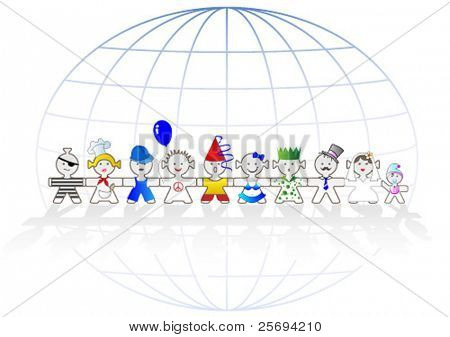 Vector Illustration happy kids