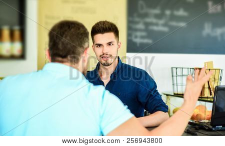Do You Need Problems. Man Client Emotional Arguing With Staff Person. Unsatisfied Visitor Angry Abou