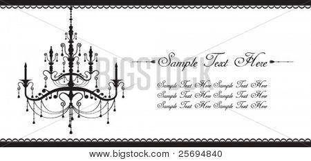 Black & white luxury lamp template
