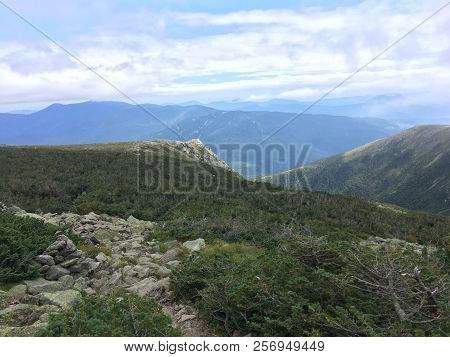 The Lion Head Trail Heading Down Mount Washington Into Pinkham Notch In The White Mountains Of New H