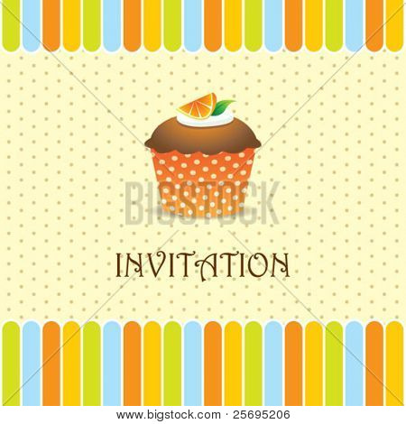 Cupcake uitnodiging achtergrond 04