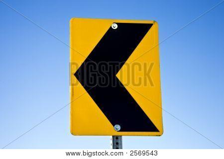 Road Sign Arrow Left