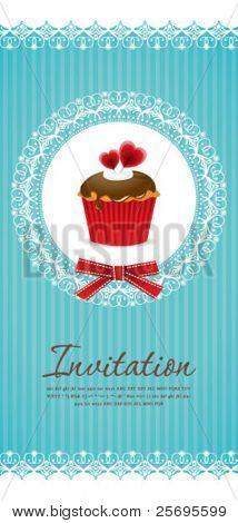 Vintage cupcake background 05