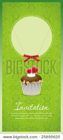 Vintage cupcake background 10