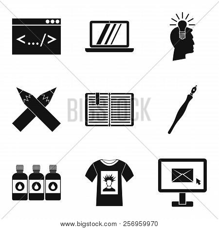 Network Job Icons Set. Simple Set Of 9 Network Job Icons For Web Isolated On White Background