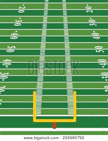 American Football Field Vertical Background Illustration