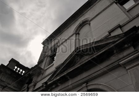 Werribee Mansion Black And White
